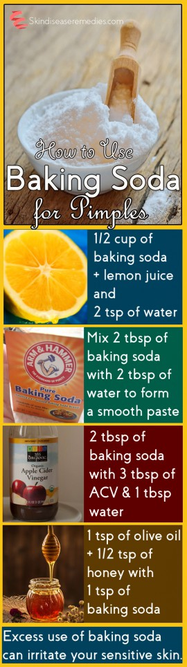 how to use baking soda for pimples