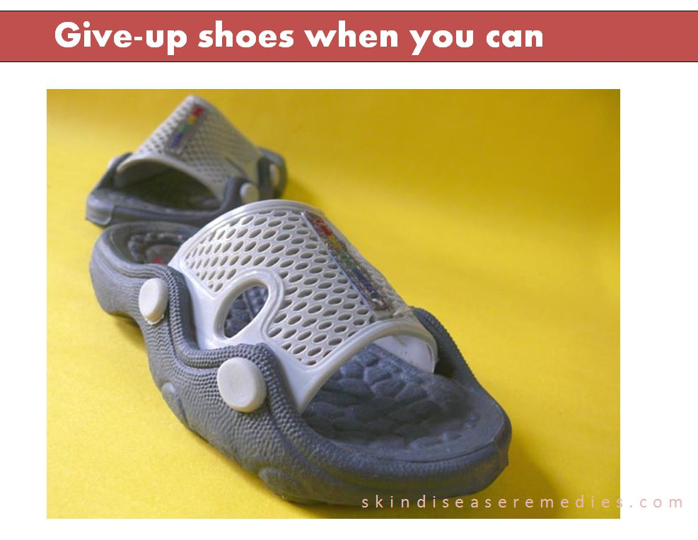 give-up shoes when you can