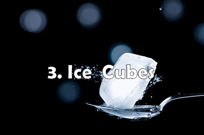 ice cube to freeze pimples