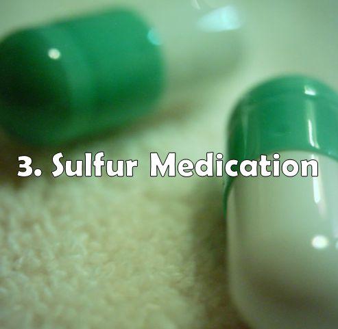 sulfur medication - garlic body odor