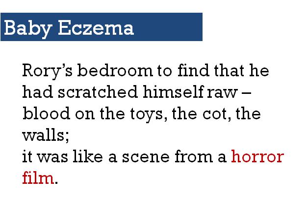 baby eczema - mom shares her episode