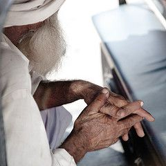 old man dry skin