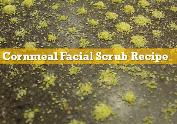 cornmeal face scrub