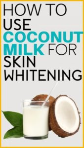 coconut milk face mask, skin whitening, acne