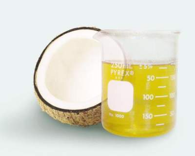 coconut oil on dry hands