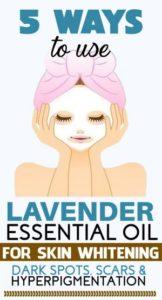 lavender oil for skin lightening