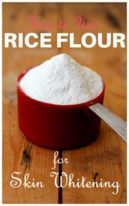 How to Use Rice Flour for Skin Whitening – 12 Methods Included