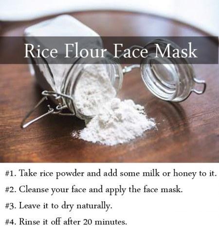 rice flour face mask