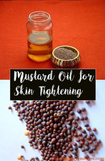 mustard oil for skin tightening