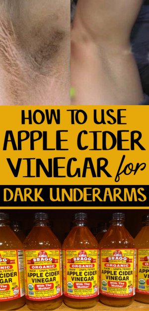 apple cider vinegar for dark underarms